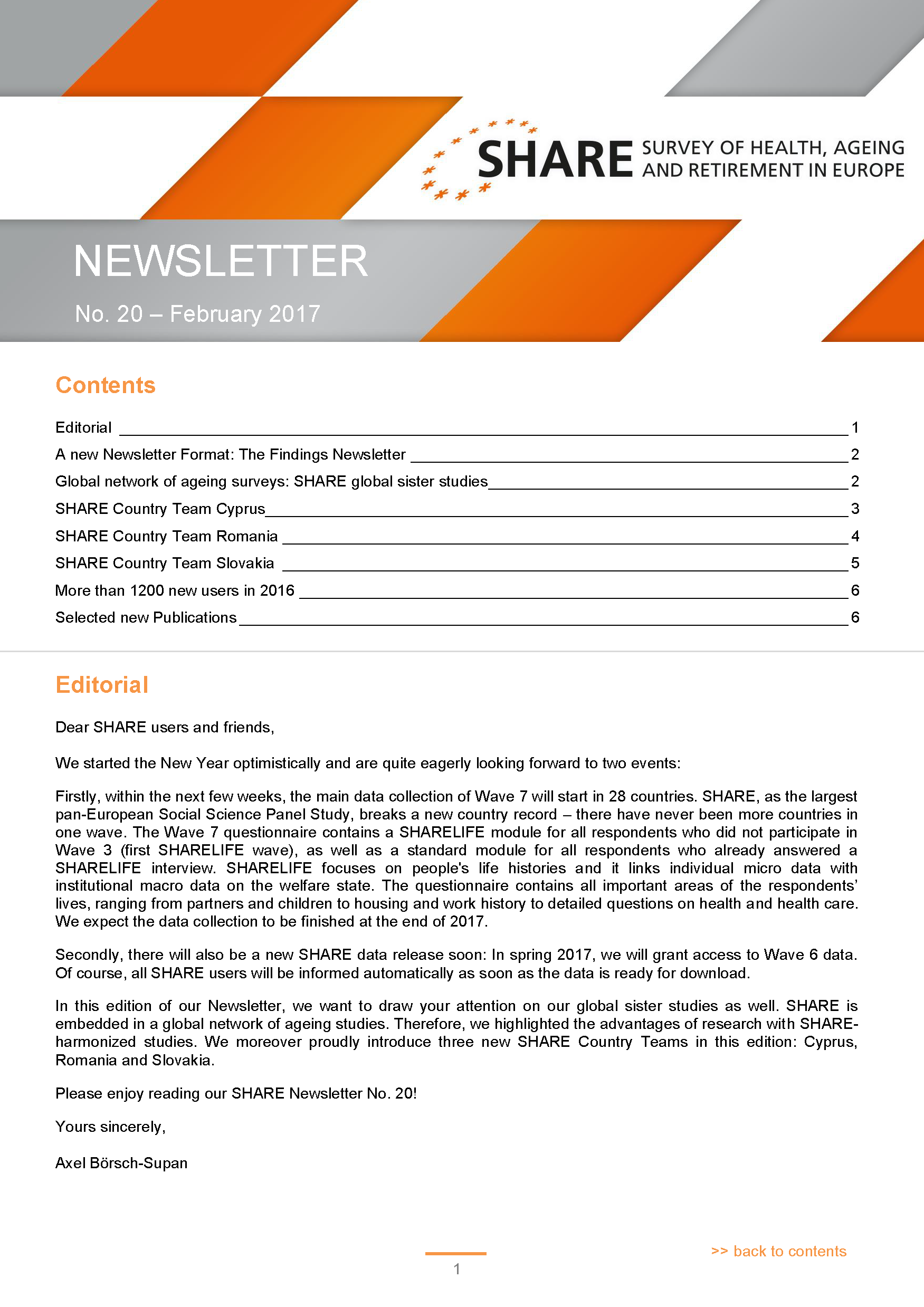 SHARE Newsletter No 20 Page 01